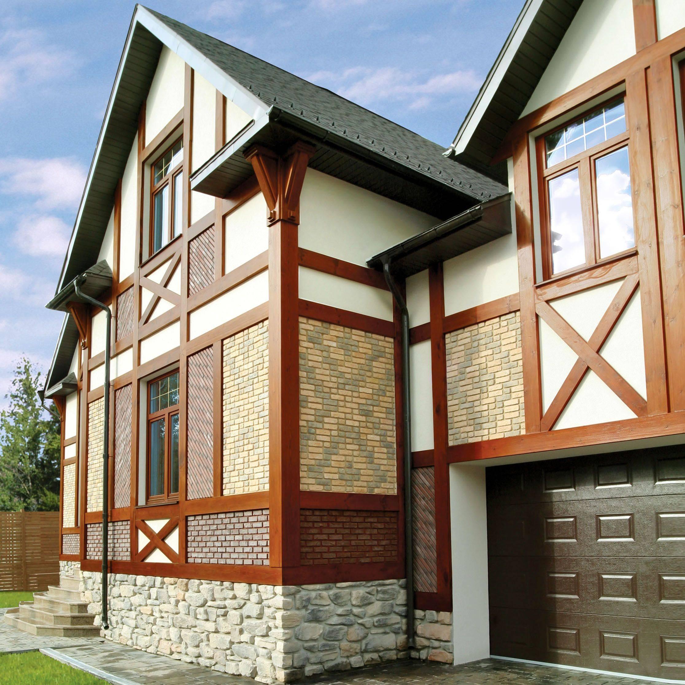 Как отделать фасад частного дома фото