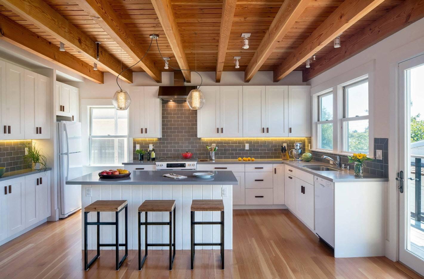 сексуальная кухня дома фотографии разных оттенков белых