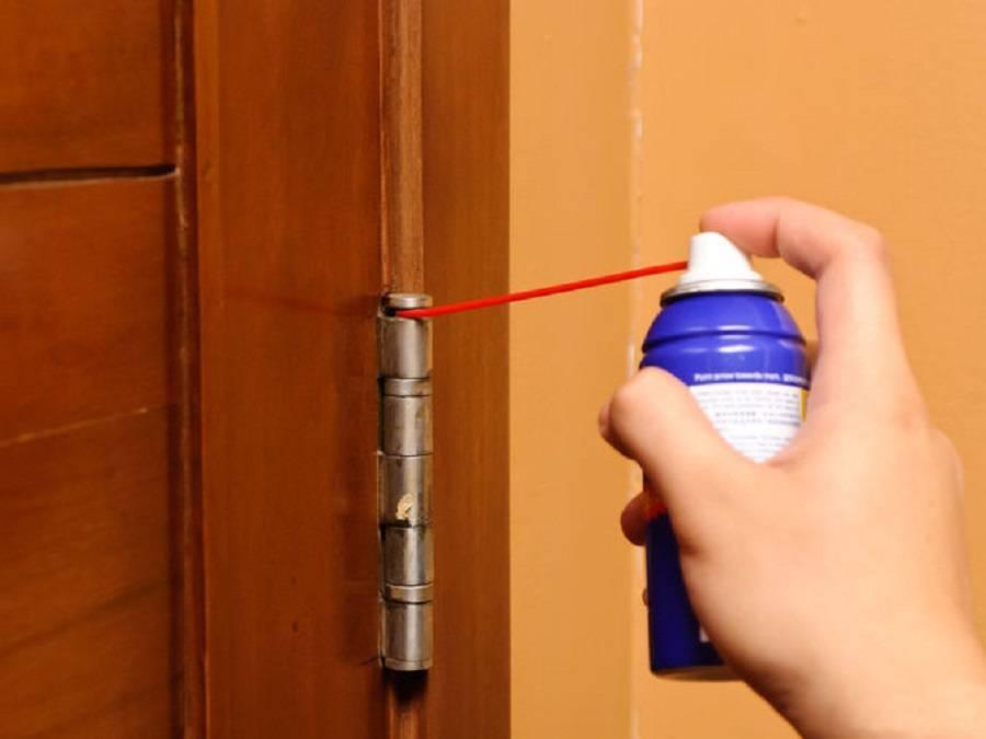 Чем смазать дверные петли в домашних условиях, чтобы не скрипели, не снимая дверь