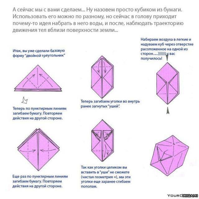 Как собрать бумажный кубик из развертки по чертежу с припусками