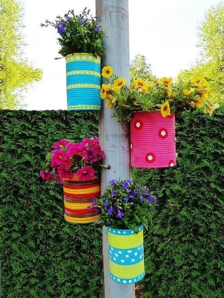 13 идей, как сделать необычный контейнер для цветов своими руками