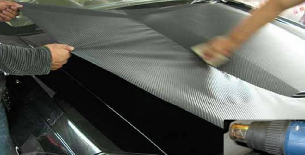 Как самостоятельно наклеить на авто карбоновую плёнку