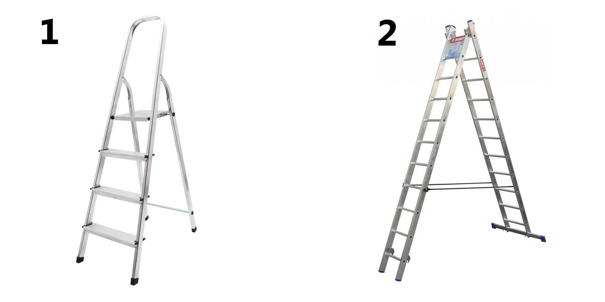 Стремянка из 2 ступеней: выбираем маленькую алюминиевую, деревянную или пластиковую двухступенчатые лестницы-трансформеры, особенности стремянок для детей