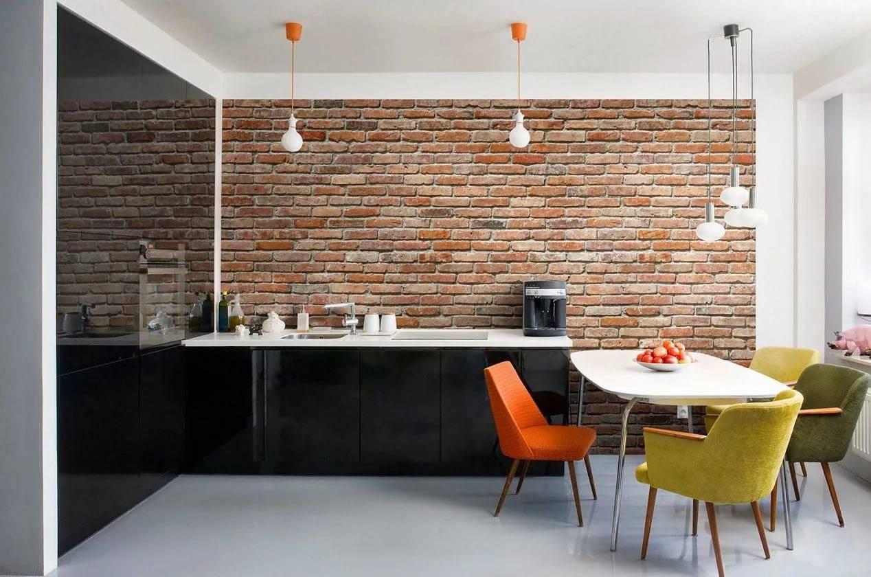 Интерьер кухни с кирпичной стеной: основные правила декорирования и дизайнерские идеи
