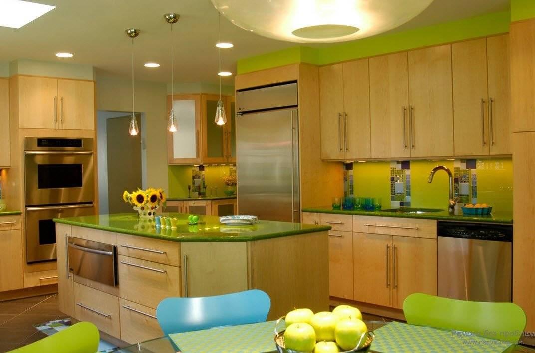 Кухня в зеленых тонах: стилизация, особенности, дизайн и интерьер с фото
