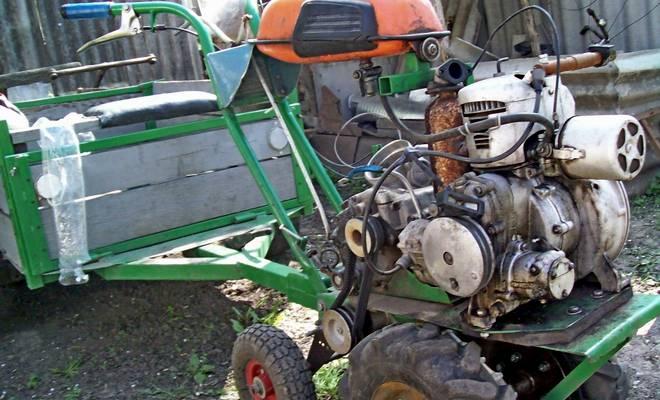 Как сделать мотоблок из бензопилы или скутера своими руками