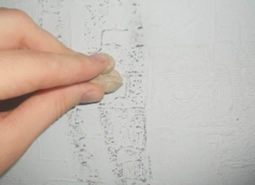 Удаляем с обоев следы от ручки и другие загрязнения