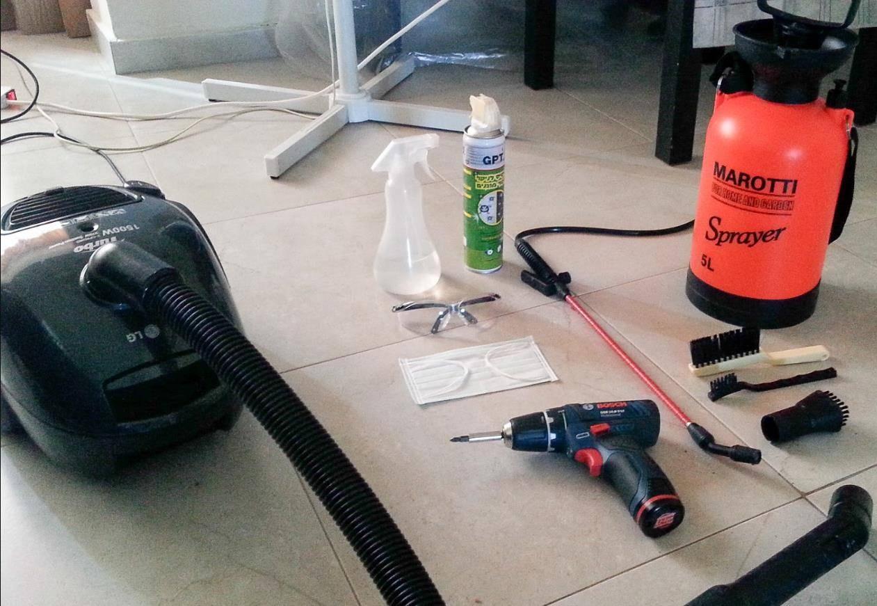 Как почистить кондиционер своими руками в домашних условиях, лучшие средства
