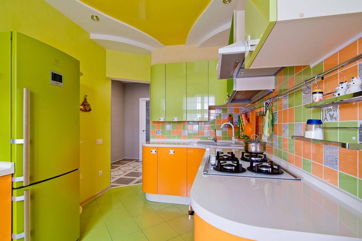 Интерьер кухни в оранжевом цвете – как подобрать стиль