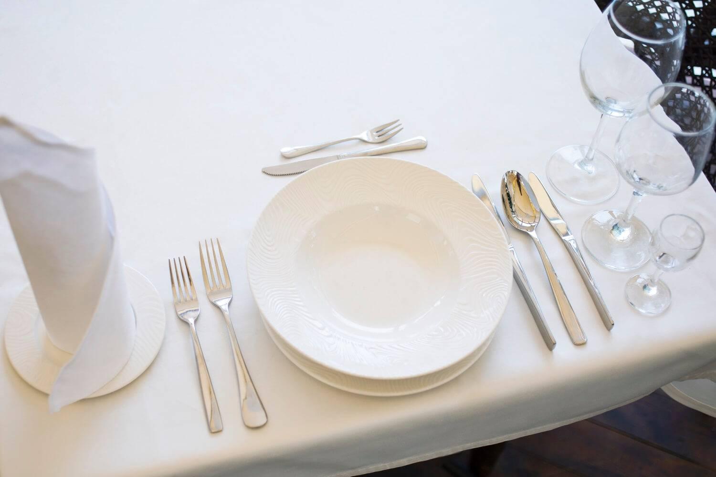 Сервировка стола в ресторане с картинками