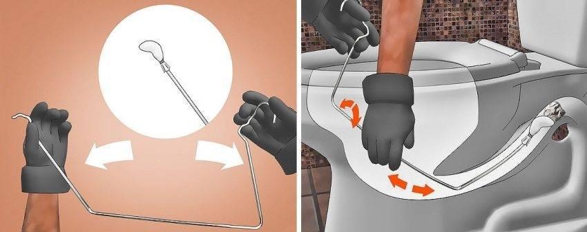 Как прочистить забившийся унитаз от засора?