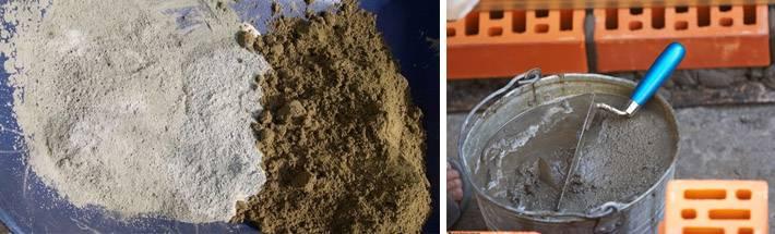 Как правильно своими руками  развести цемент и песок в растворе для штукатурки и кладки: соотношение и пропорции