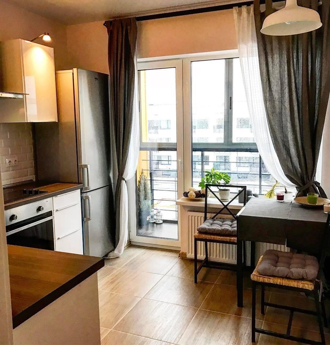 соединение балкона с кухней фото седокова раньше