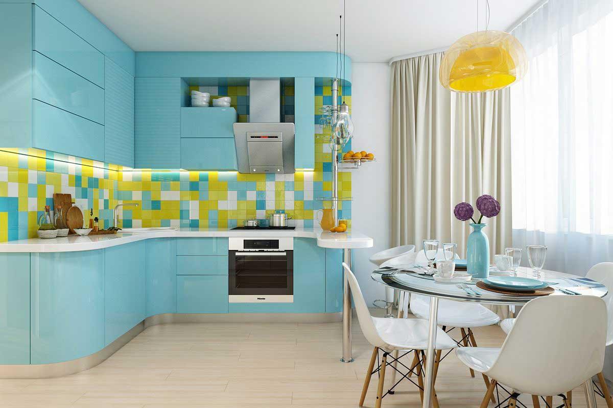 Дизайн кухни бирюзового цвета: особенности оформления, трендовые сочетания и 70+ вдохновляющих интерьеров