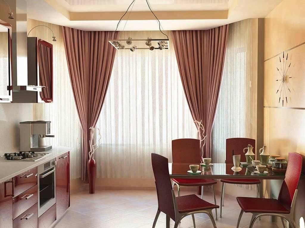 Шторы на кухню 2020 (139 фото): красивые кухонные занавески и шторки в интерьере, как оформить окно до подоконника