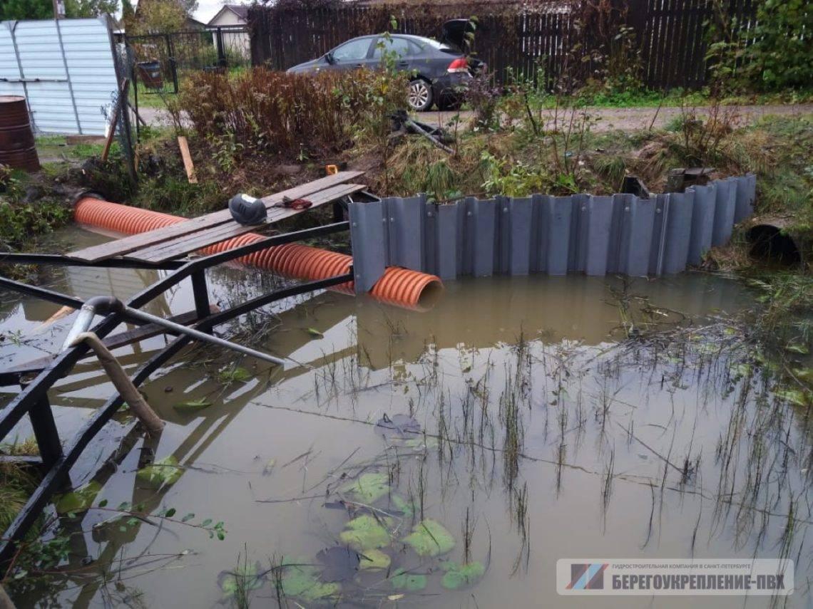 Как укрепить берег пруда на даче своими руками