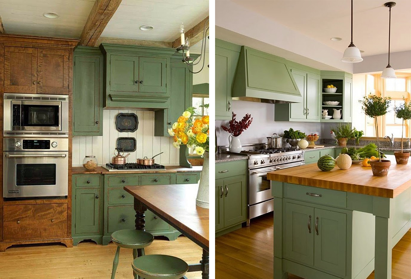 Кухня фисташкового цвета: свежо, неординарно, позитивно