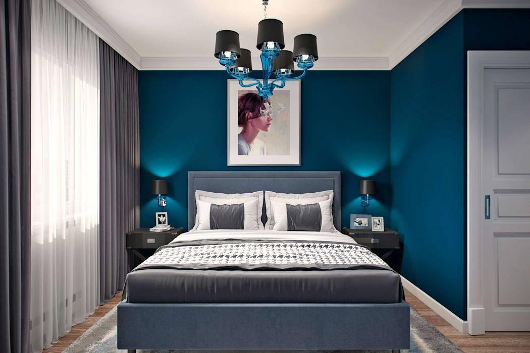 рассказывать дизайн спальни серо синий фото страницах нашего официального