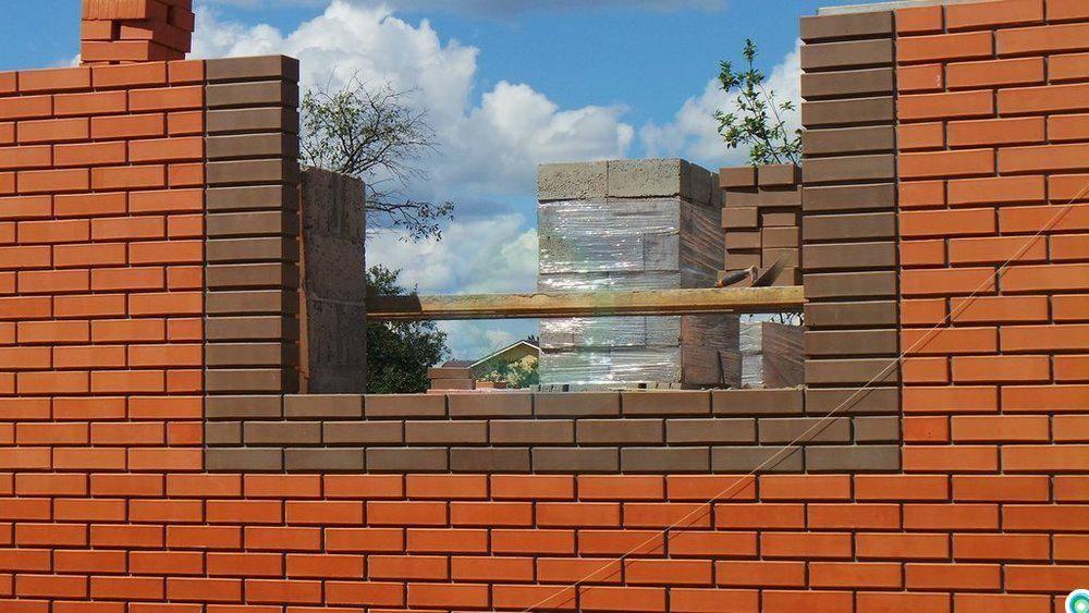 шкуры картинка кладки дома из блока обложенного красным скальпа производится под