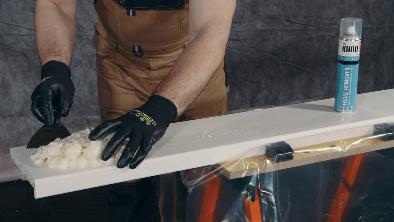 Чем очистить монтажную пену с рук, дверей, пола и других поверхностей в домашних условиях