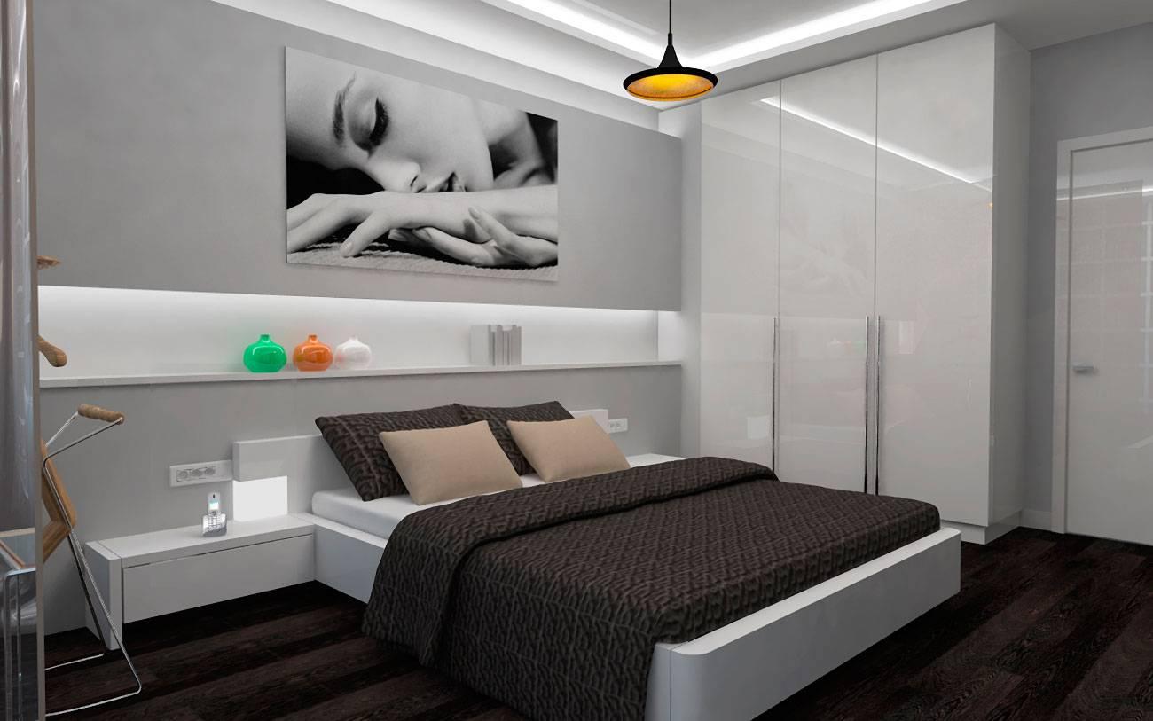фото простой спальни в стиле хай тек родственники