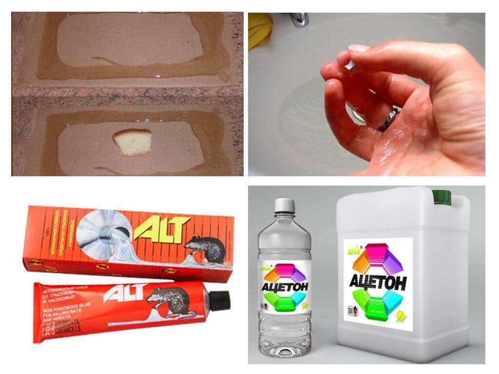 Чем и как отмыть и оттереть клей для мышей с разных поверхностей?