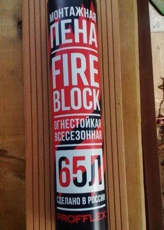 Profflex: монтажная пена firestop 65, fire-block и pro red plus зима