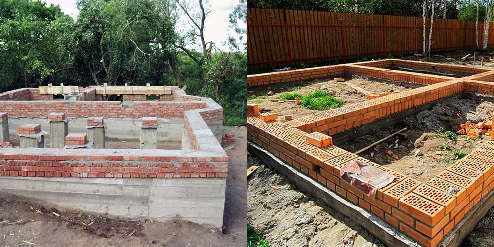 Из чего лучше делать цоколь: кирпич или бетон?