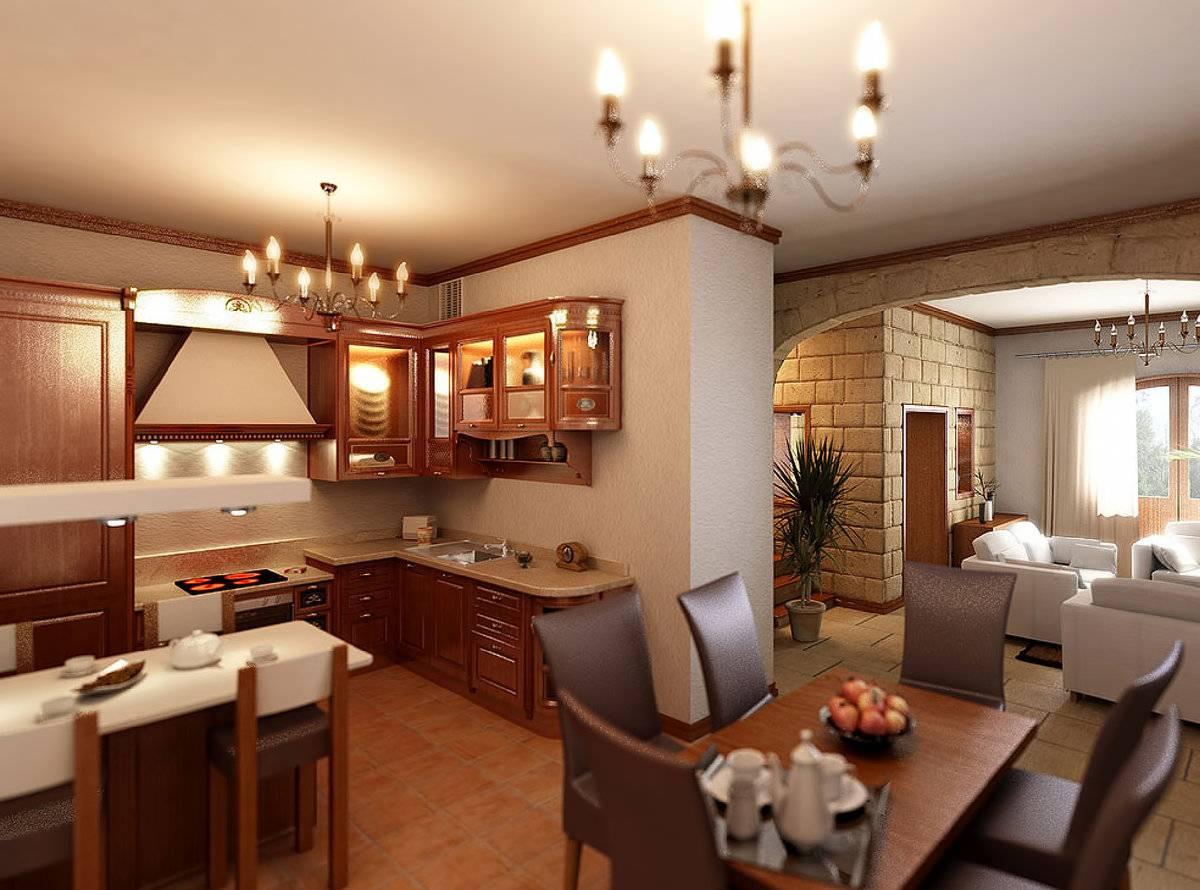 кухня с столовой вместе фото уплотнения