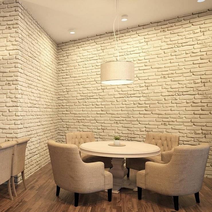 Отделка стен декоративным кирпичом фото