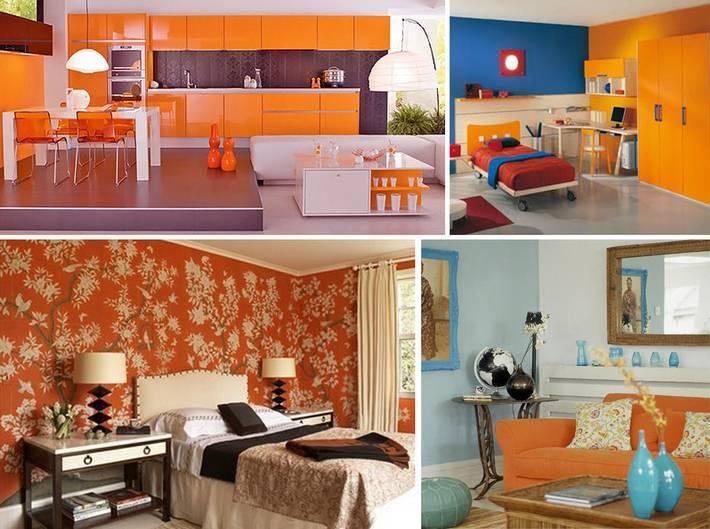 Оформление кухни в оранжевом цвете: с чем сочетать сложный оттенок