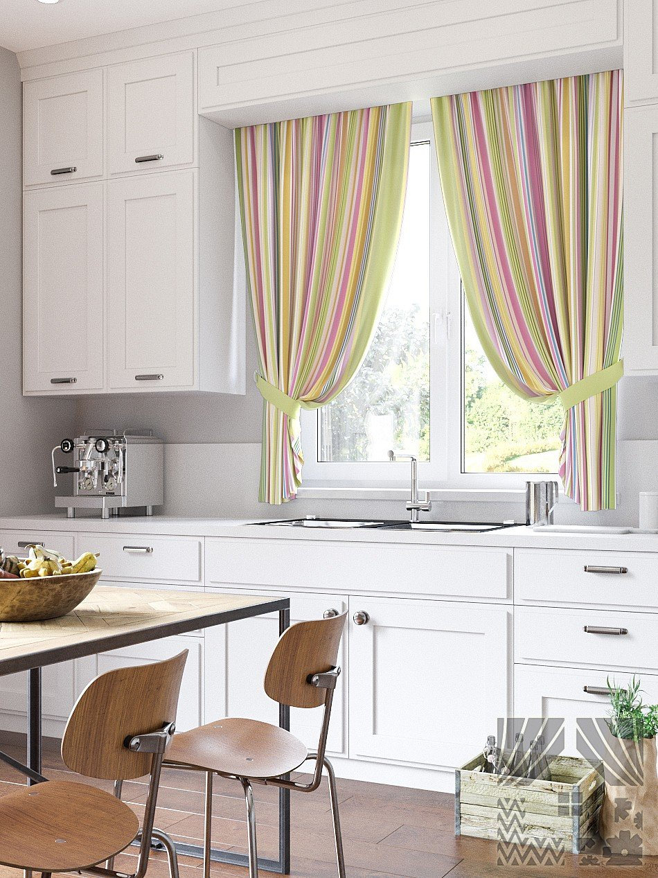 как красиво оформить окно на кухне фото рисунок получиться
