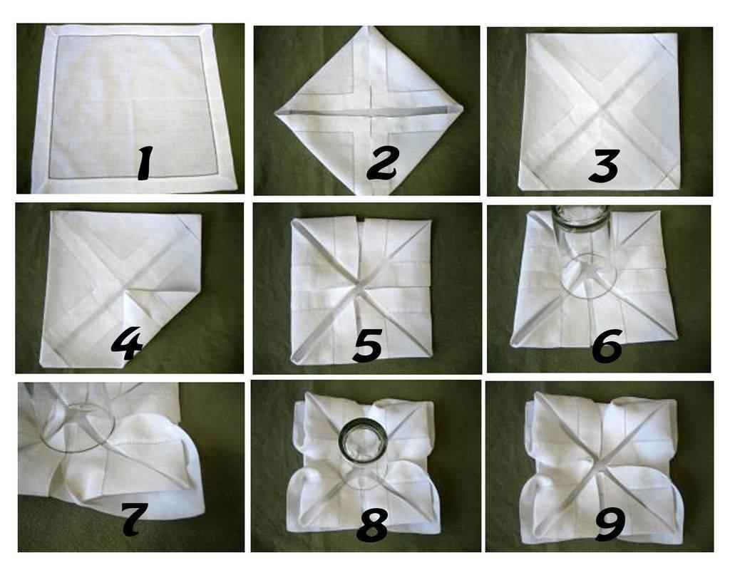 столовая оборудована как сложить красиво салфетки фото инструкция варианты