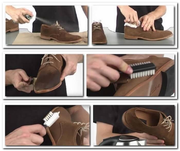 Разновидности средств по уходу за обувью из различных материалов