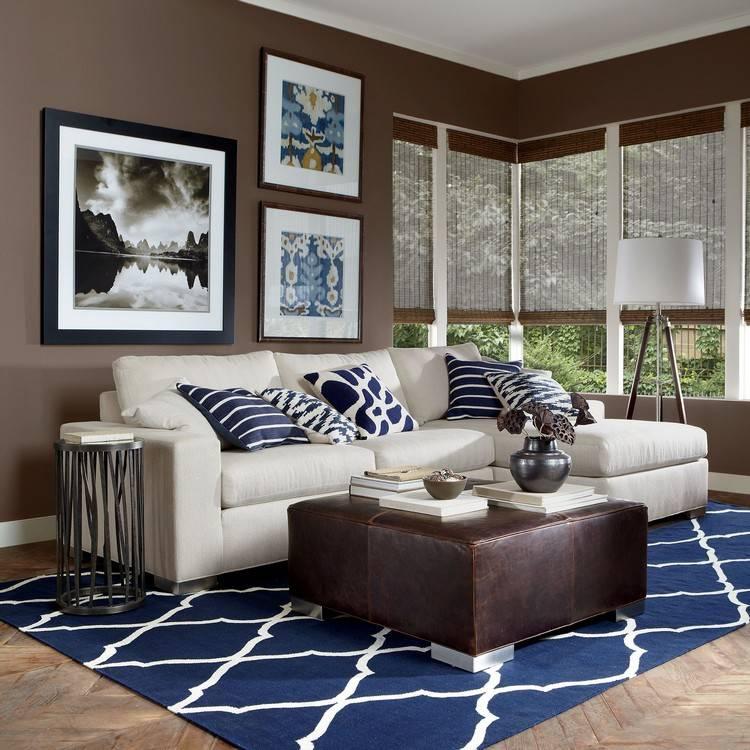 Интерьер гостиной в коричневом цвете - особенности палитры, советы дизайнеров и уникальная фото подборка