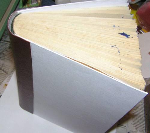 Переделка блока новой книги в мягком переплете [1991 литвинец э.н., коноплева н.п. - сделай сам (учитесь вышивать. вторая жизнь вещей (о коже))]