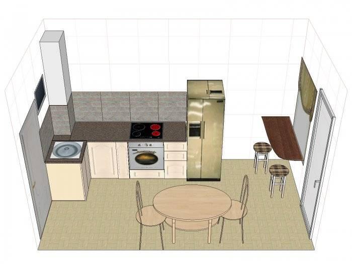 Дизайн узкой кухни: планировка, отделка, расстановка мебели, фото