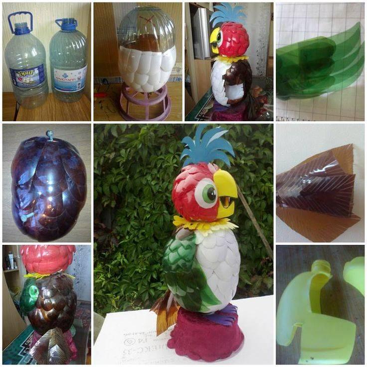 Поделки из пластиковых бутылок для школы картинки