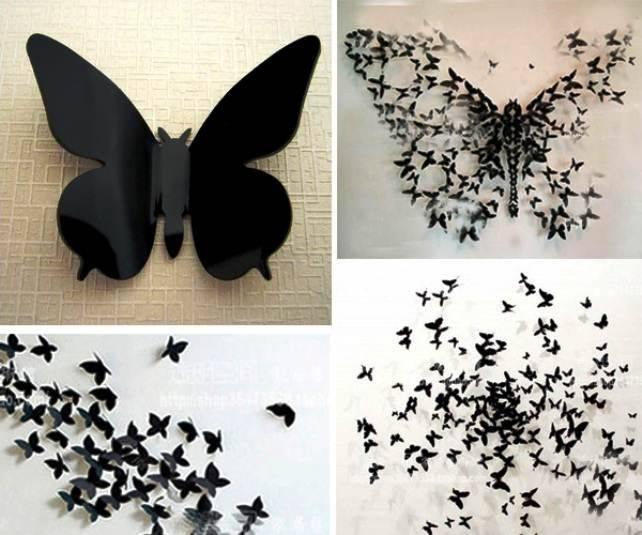 Как сделать бабочек из бумаги на стену своими руками?