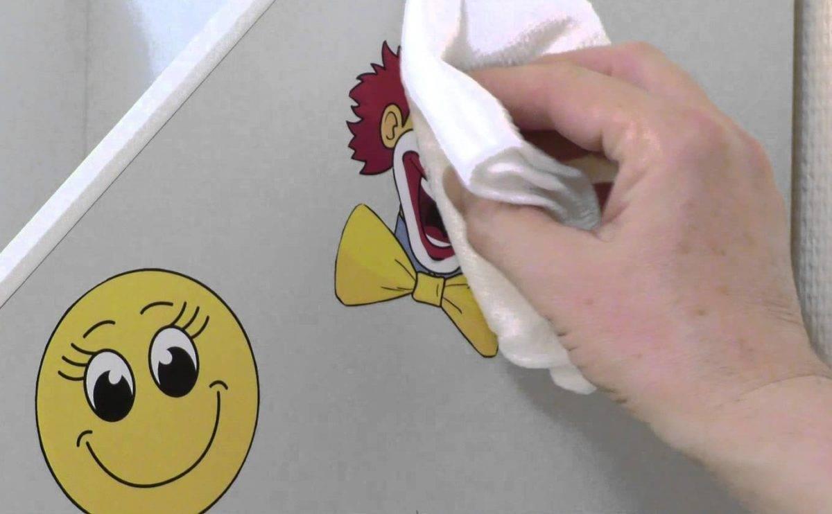 Чем снять и отмыть наклейку с холодильника