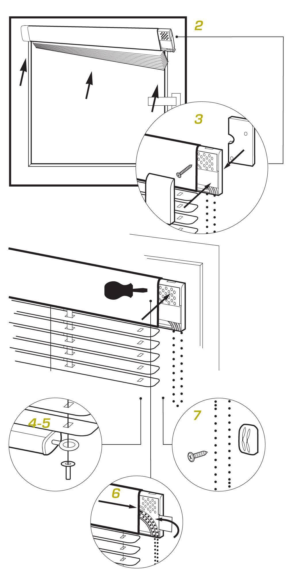 Установка вертикальных жалюзи (17 фото): как крепить к потолку и вешать на стену, инструкция монтажа на пластиковые окна тканевых моделей