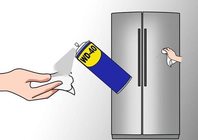 Как отмыть наклейку с холодильника