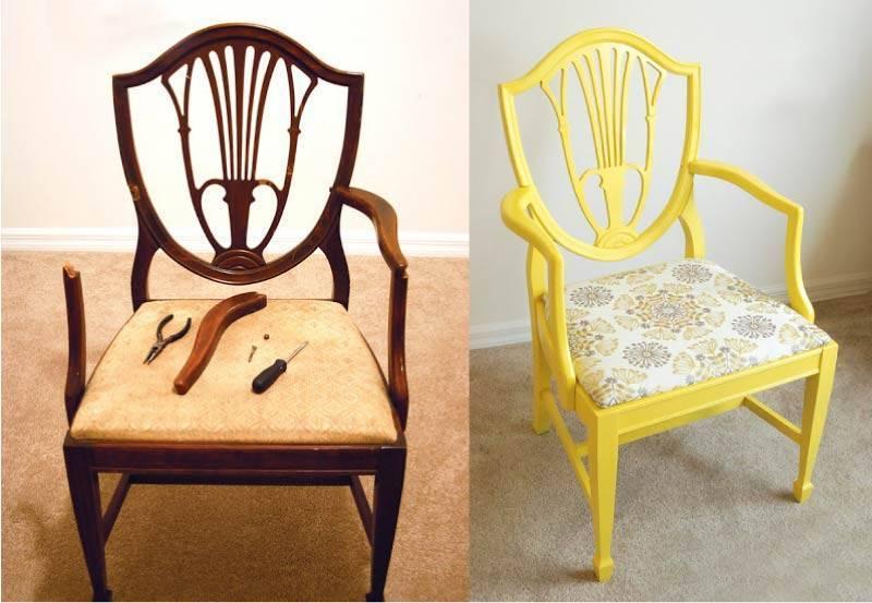 Этапы реставрации стульев своими руками
