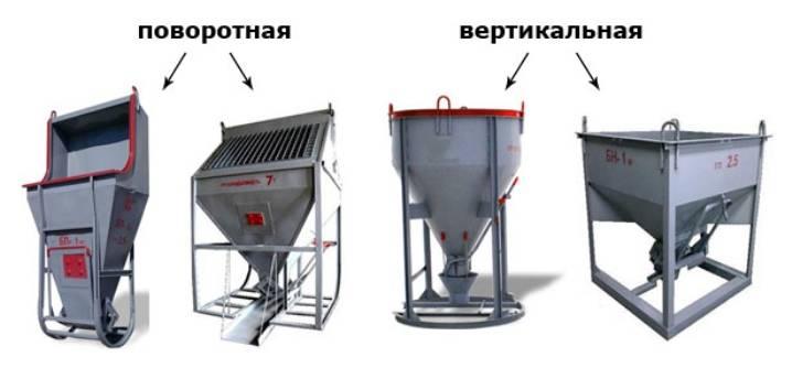 Описание и характеристики бадьи для заливки бетона 1м3