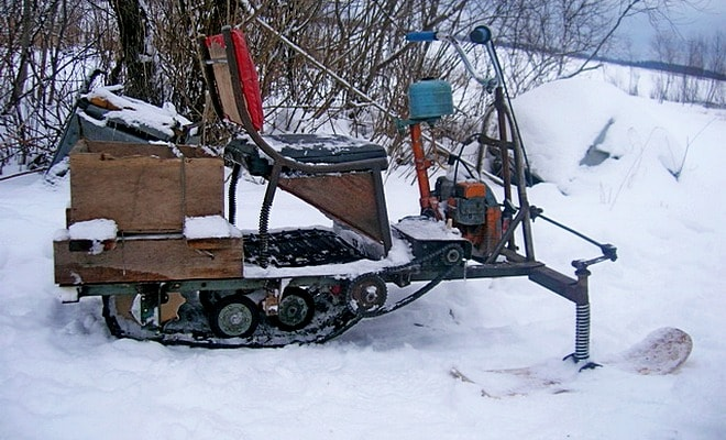 Как сделать снегоход и мотоблок из бензопилы «дружба» своими руками?