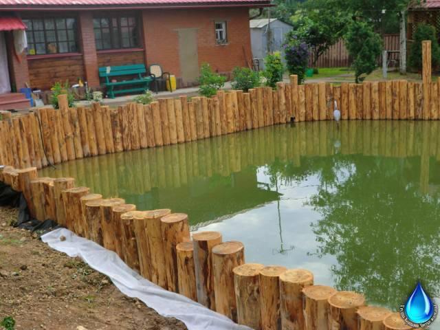 Как самостоятельно укрепить берега водоема