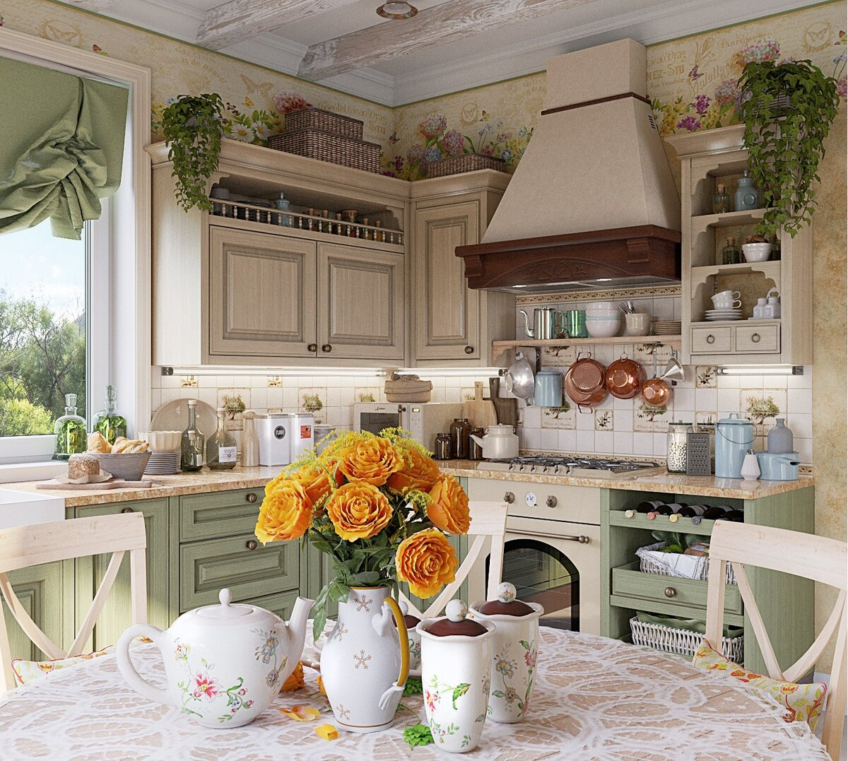 этом сайте уютные кухоньки деревенских домов фото бесплатно