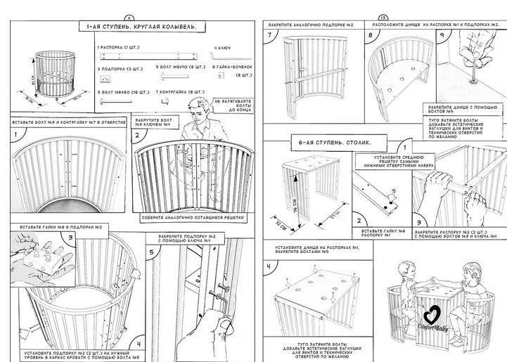 Изготовление детской кроватки своими руками: пошаговое описание постройки в домашних условиях (100 фото и видео)