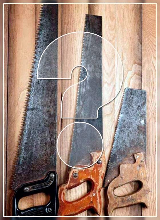 Нож из полотна механической пилы