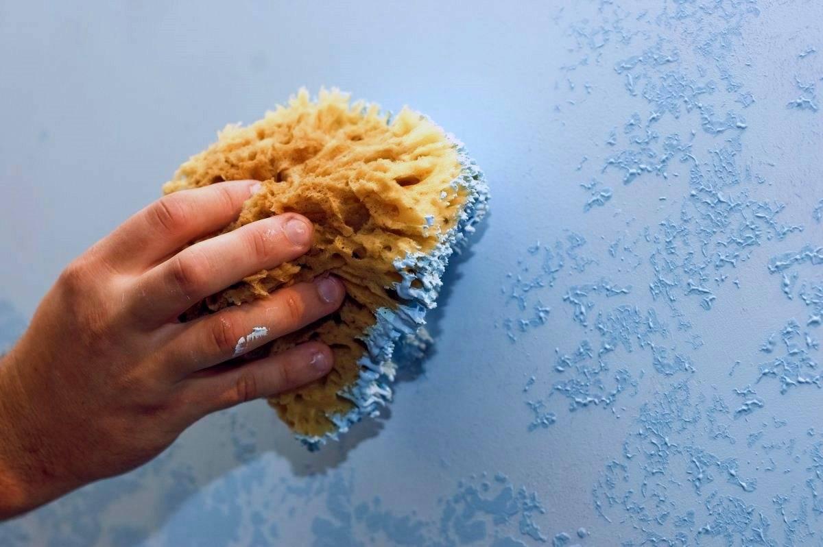 декор стены краской своими руками фото больших
